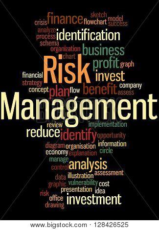 Risk Management, Word Cloud Concept 5