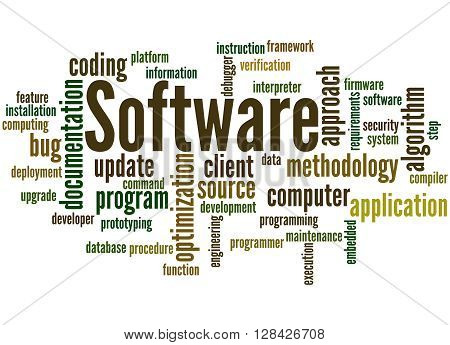 Software, Word Cloud Concept 5