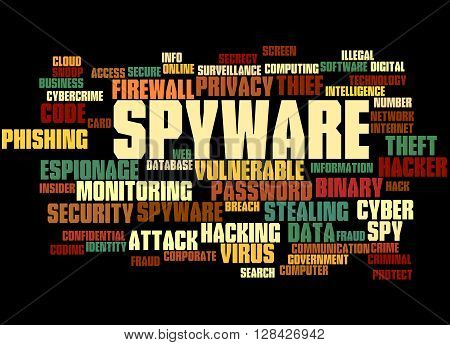 Spyware, Word Cloud Concept 6