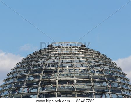 Reichstag Dome - Top Of Reichstag Building In Berlin,