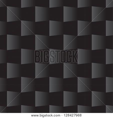 3D Square Seamless Pattern Black
