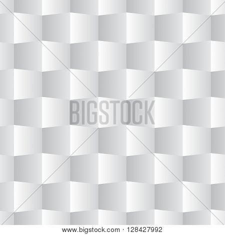 3D Square Seamless Pattern White