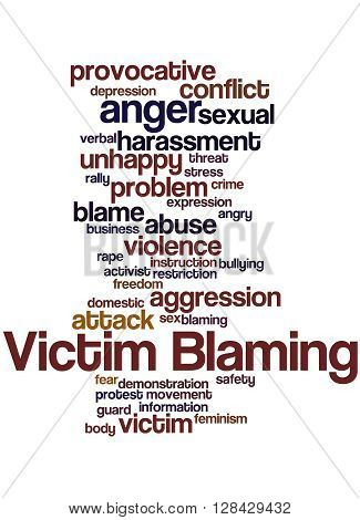 Victim Blaming, Word Cloud Concept 2