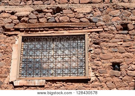 Kasbah Telouet, Morocco, pigeons taking over architectural beauty
