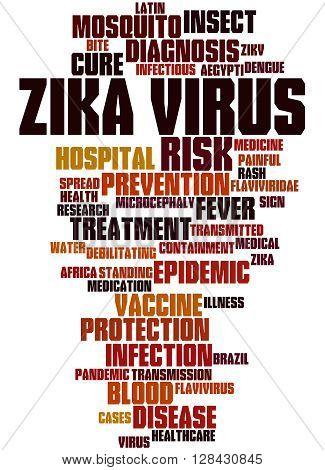 Zika Virus, Word Cloud Concept 5