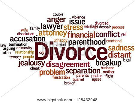 Divorce, Word Cloud Concept 3