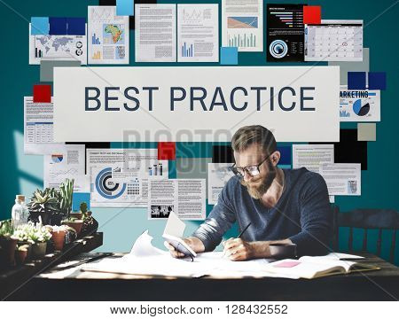Best Practice Execution Growth Concept