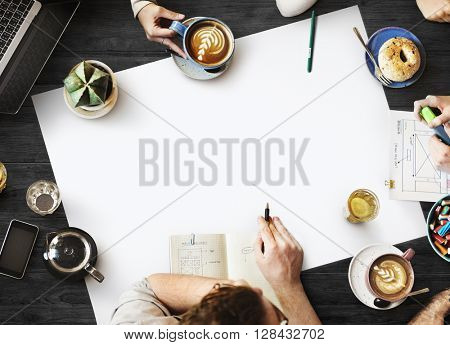 Web Design Team Working Planning Website Concept