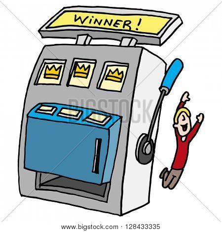An image of a winning slot machine.