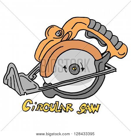 An image of a circular saw power tool.