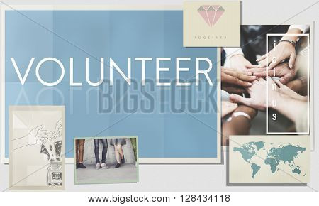 Volunteer Aid Assist Charity Giving Service Help Concept