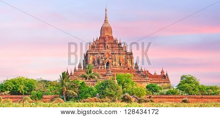 Htilominlo Temple in Bagan. Myanmar. Panorama