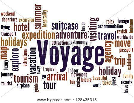 Voyage, Word Cloud Concept