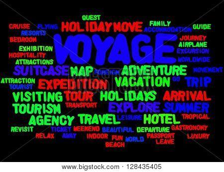 Voyage, Word Cloud Concept 5