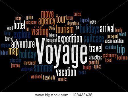 Voyage, Word Cloud Concept 7