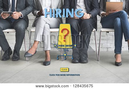 Hiring Human Resources Career Plan Concept
