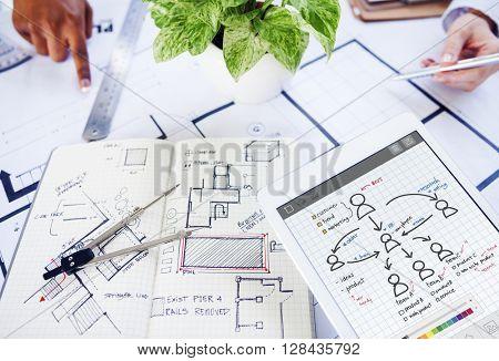 People Team Work Organization Plan Concept