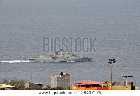 Military Vessel Near Fogo
