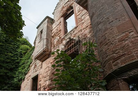 Forgotten and abandoned house overgrown in Scotland