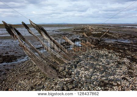 last remaining pieces of an old Shipwreck