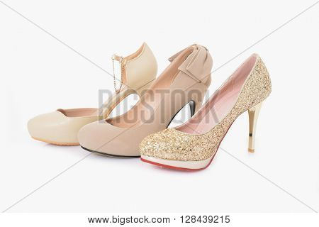 Shoes for young women glamour, fashion, shiny