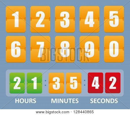 Countdown timer vector illustration isolated on background