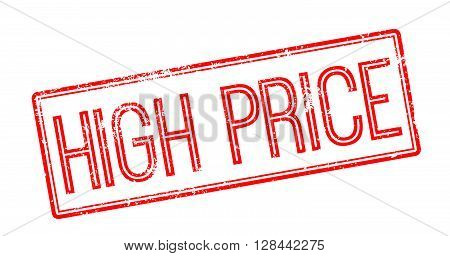 High Price Red Rubber Stamp On White