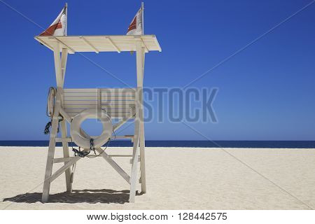 lifeguard viewing platform on a Mexican beach