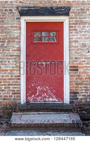 Old Rustic Red Door