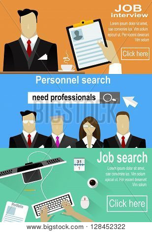 Human resources. Man and woman personnel searching, selection and interviewing candidates. Alsosearching job concept