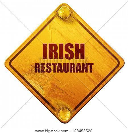 Delicious irish cuisine, 3D rendering, isolated grunge yellow ro