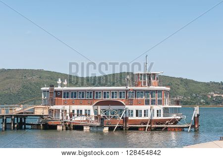 KNYSNA SOUTH AFRICA - MARCH 3 2016: The only paddle-driven vessel in South Africa takes visitors on cruises on the Knysna Lagoon