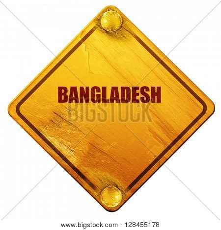 Greetings from bangladesh, 3D rendering, isolated grunge yellow