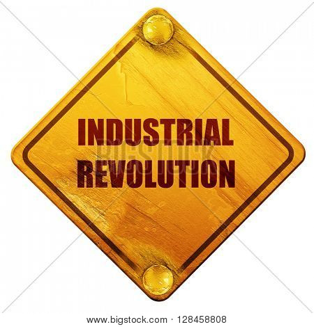 Industrial revolution background, 3D rendering, isolated grunge