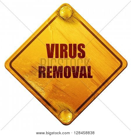 Virus removal background, 3D rendering, isolated grunge yellow r