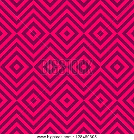 Ethnic tribal zig zag and rhombus seamless pattern. illustration for beauty fashion design. Pink white colors. Vintage stripe style.