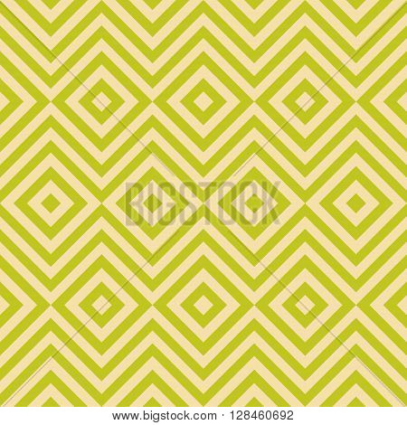 Ethnic tribal zig zag and rhombus seamless pattern. illustration for beauty fashion design. Green yellow colors. Vintage stripe style.