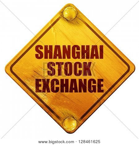 shanghai stock exchange, 3D rendering, isolated grunge yellow ro