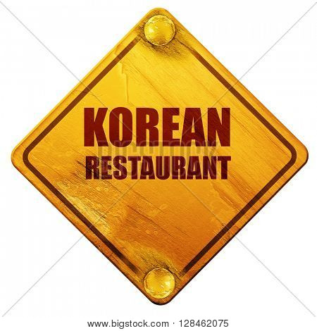 Delicious korean cuisine, 3D rendering, isolated grunge yellow r