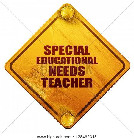 special educational needs teacher, 3D rendering, isolated grunge