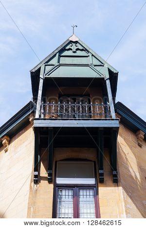 alcove of a historical building in Valkenburg aan de Geul Netherlands