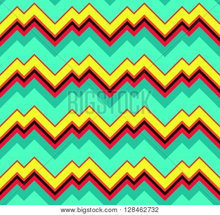 Abstract Colorful Modern Textile Design - Vector Seamless Pattern