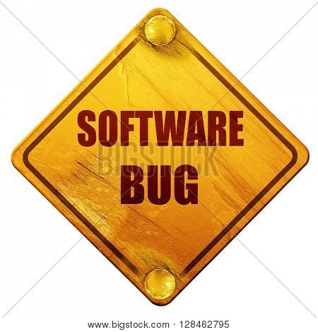 Software bug background, 3D rendering, isolated grunge yellow ro