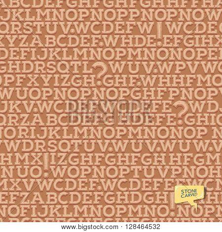 Latin antient typeface alphabet. Letters pattern. Seamless texture.