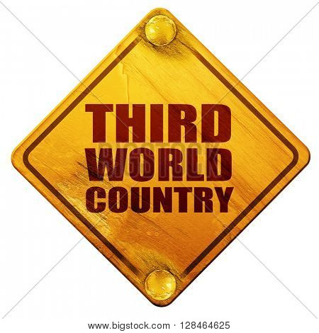 third world country, 3D rendering, isolated grunge yellow road s