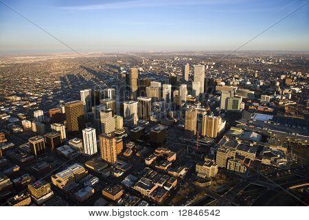 Antenne Stadtbild der Stadt Denver, Colorado, USA.