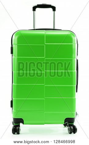 Large Red Travel Suitcase Isolated On White