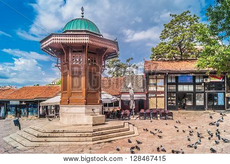 Sebilj in old center of Sarajevo is one of main landmark in this old and historic town.