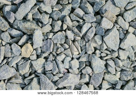background of Different grey sharp stones of all sizes