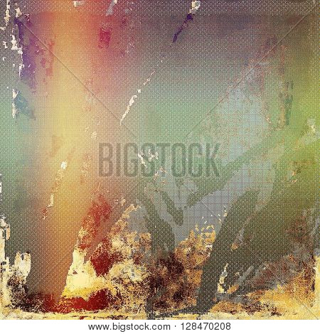 Vintage background - dirty ancient texture. Antique grunge backdrop with different color patterns: yellow (beige); brown; gray; green; red (orange); purple (violet)